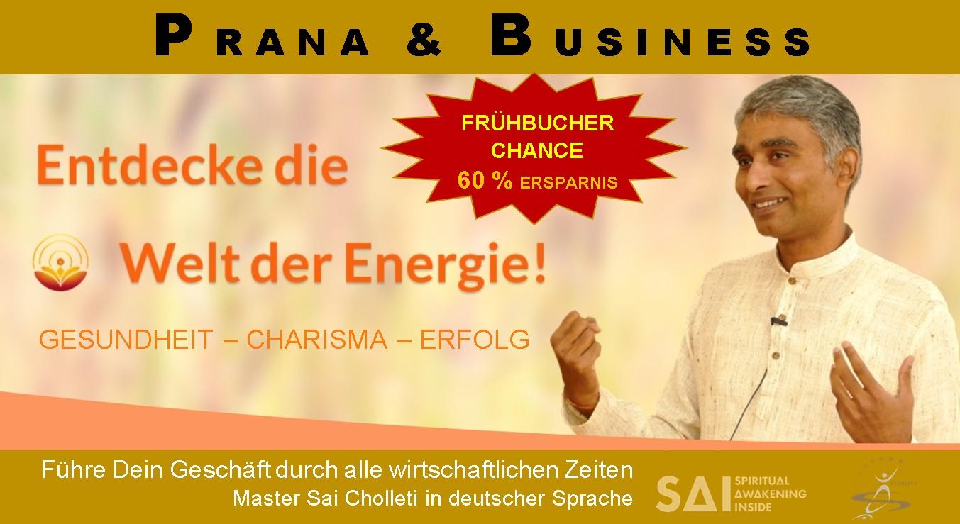 PRANA-HEILUNG BUSINESS mit Master Sai